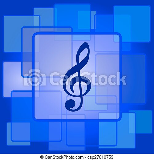 Musical note icon - csp27010753