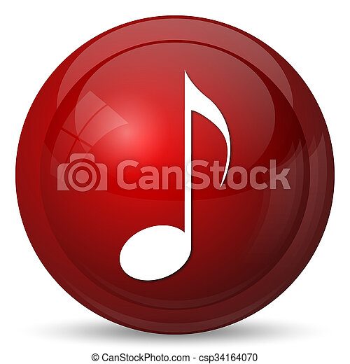 Musical note icon - csp34164070
