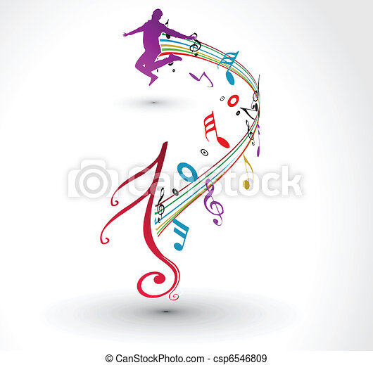 musical notes background - csp6546809
