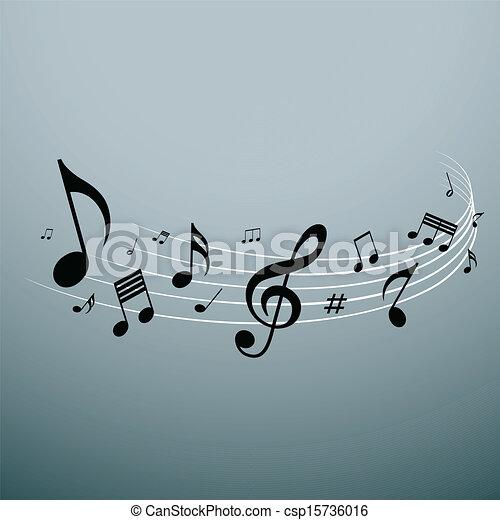 Musical notes design - csp15736016