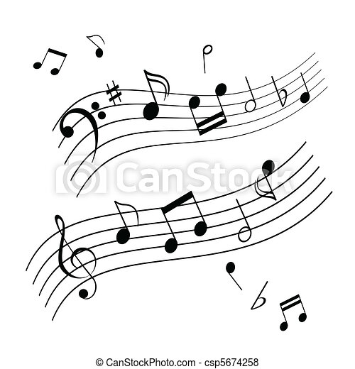 Musical notes Stock Illustrations  59,778 Musical notes clip