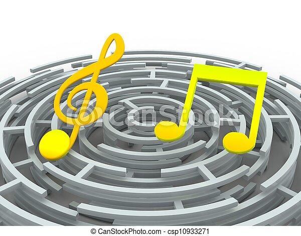 Musical notes - csp10933271