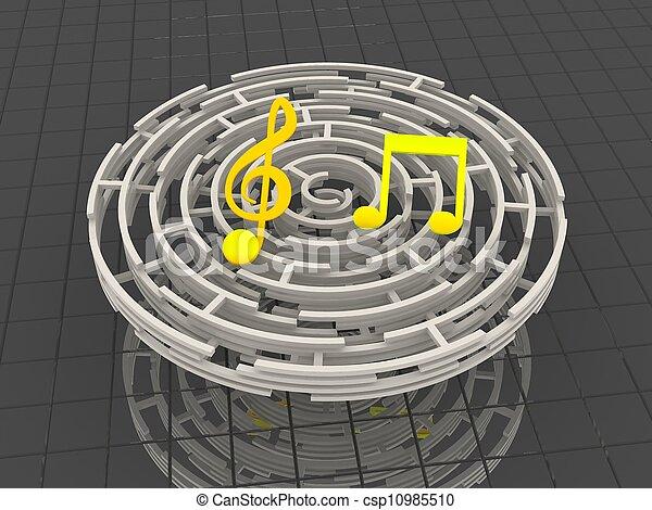 Musical notes - csp10985510