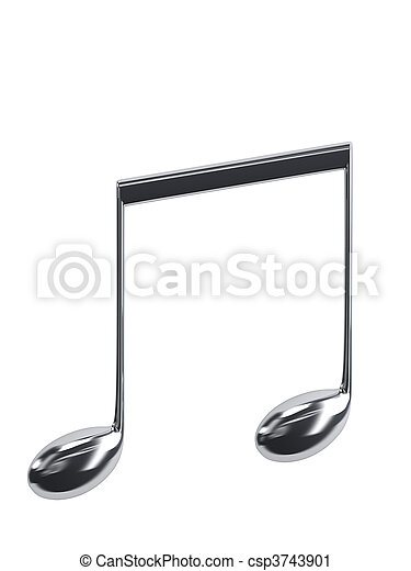 musical notes - csp3743901
