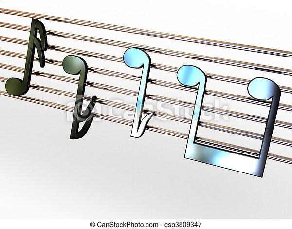 Musical notes. - csp3809347