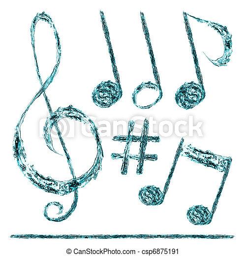 musical notes - csp6875191