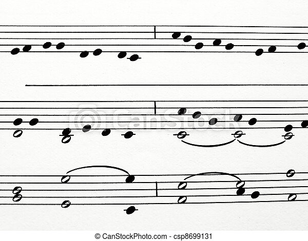 musical notes - csp8699131