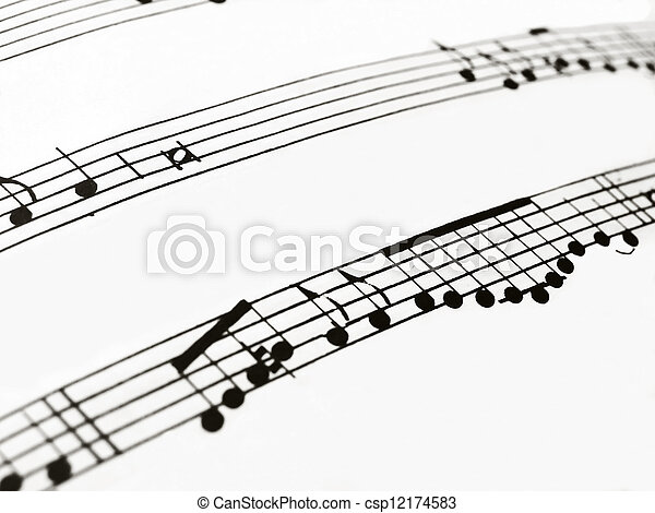 musical notes - csp12174583