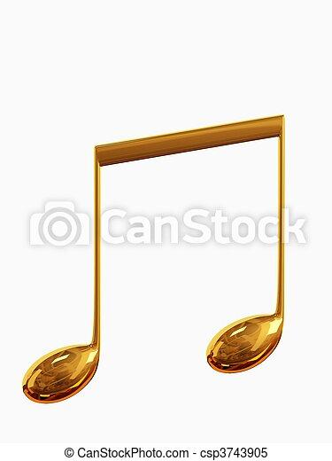 musical notes - csp3743905