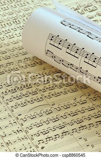 Musical notes - csp8860545