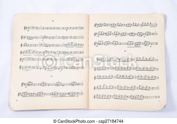 Musical notes - csp27184744