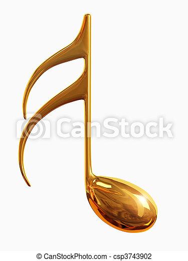 musical notes - csp3743902