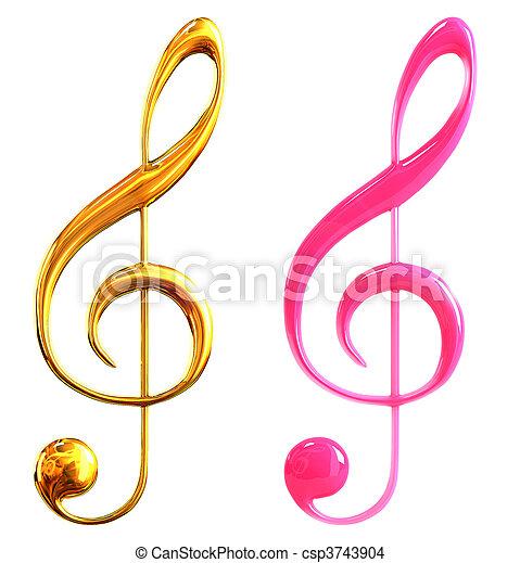 musical notes - csp3743904