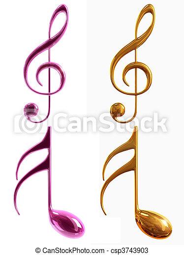 musical notes - csp3743903