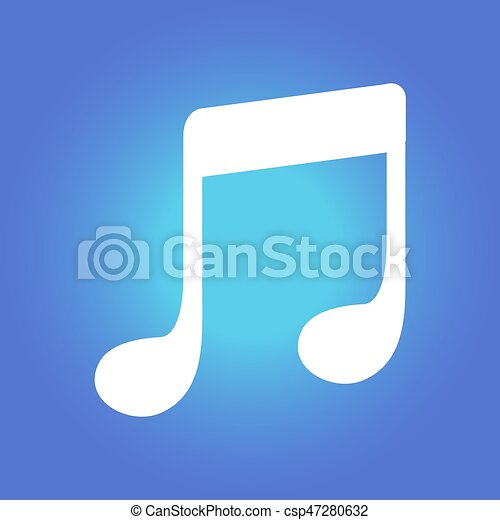 Musical Sign Symbol Music Note Icon Character Listening Vectors