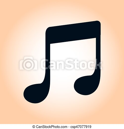 Musical Sign Symbol Music Note Icon Character Listening Song Flat