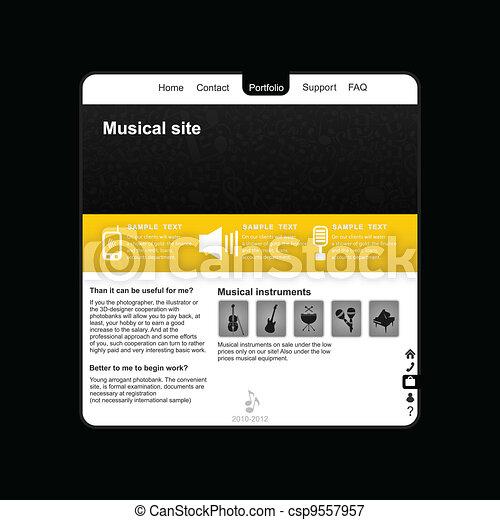 Musical site2 - csp9557957
