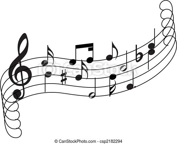 musical staff theme - csp2182294