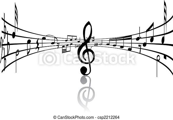 musical staff theme - csp2212264