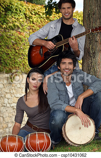 musical trio in nature - csp10431062