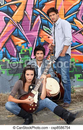 Musical trio - csp8586754