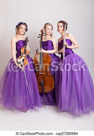 musical trio - csp27290694