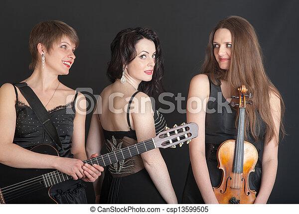 Musical trio - csp13599505