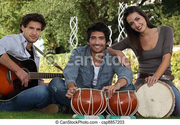 Musical trio - csp8857203