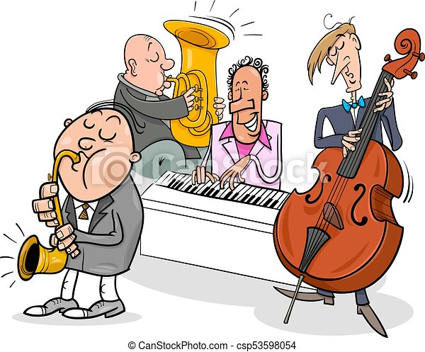 Image result for musicians playing cartoon