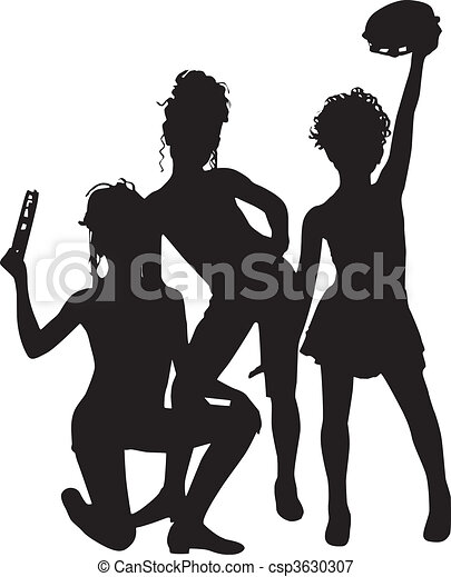 musicians silhouette children musicians enjoy silhouette