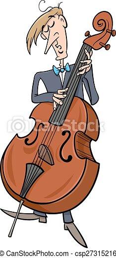 Musicien contrebasse dessin anim musicien - Dessin musicien ...