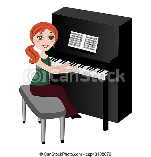 Musicien pianiste - Coloriage piano ...