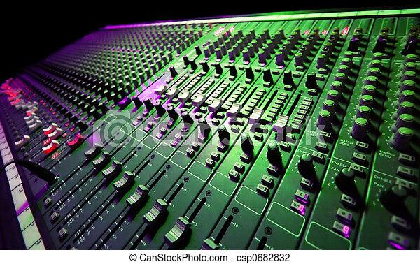 musik, blandare - csp0682832