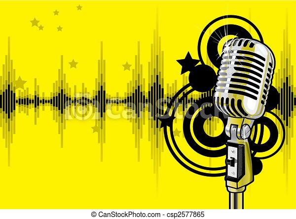 musik, design, händelse, (vector) - csp2577865