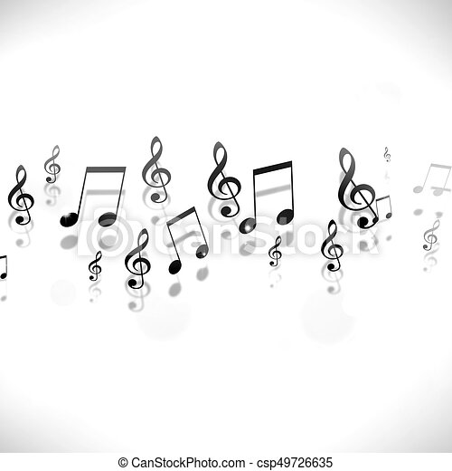 Musik Merkt Schwarz Weißer Hintergrund Notizen Musik