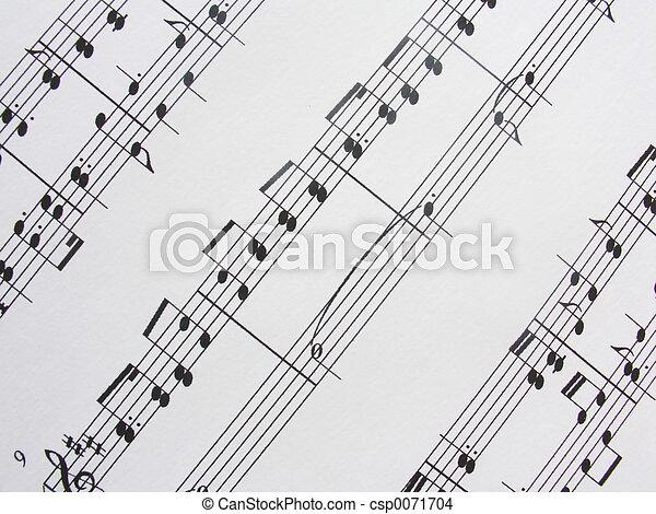 musik, sheet3 - csp0071704