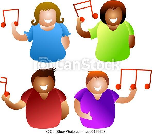 Musikalische Menschen - csp0166593