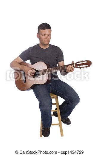 musiker, spielende  - csp1434729