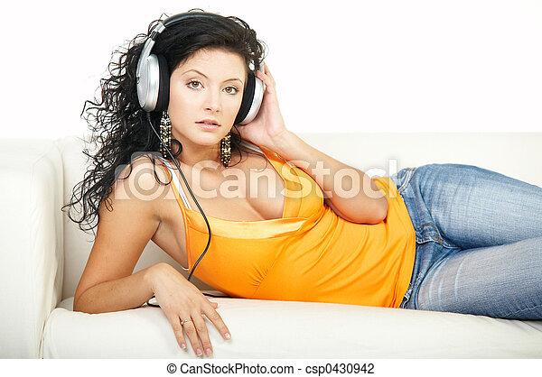 musique, écouter - csp0430942