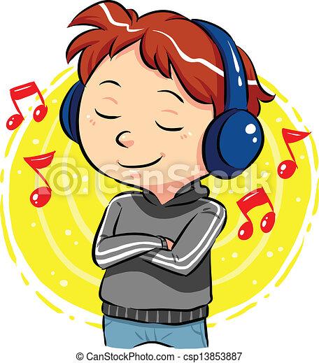 musique écouter - csp13853887