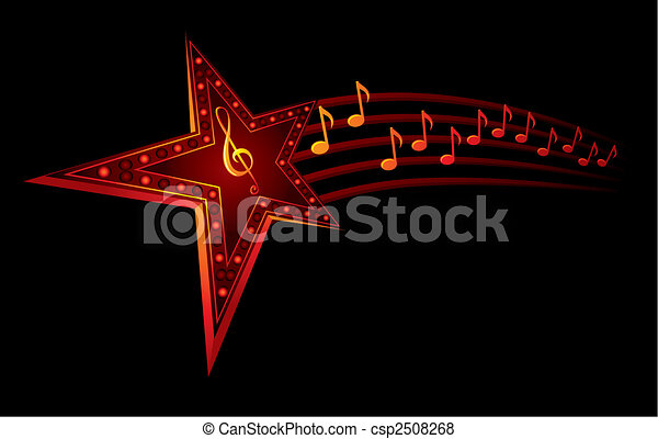 musique, étoile - csp2508268