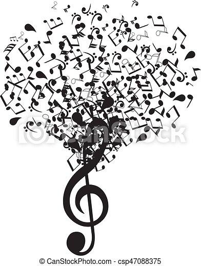 musique, arbre - csp47088375