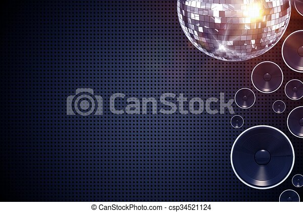 musique, fond, disco - csp34521124