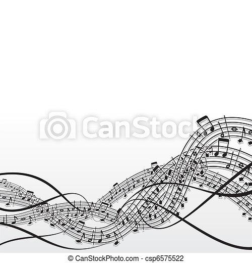 musique, fond - csp6575522