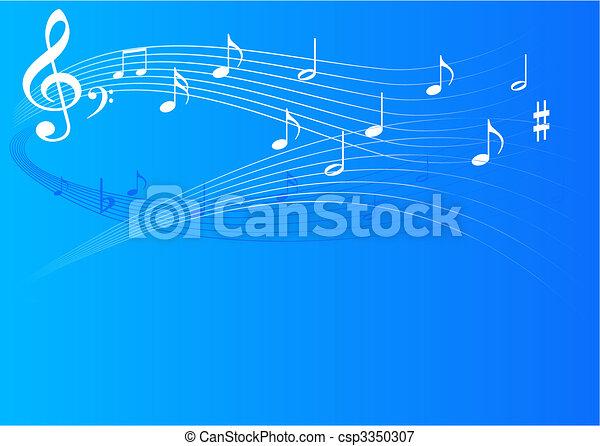 musique, fond - csp3350307