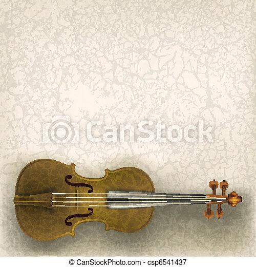 musique, résumé, grunge, fond, violon - csp6541437