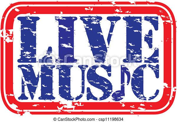 musique, rue, vivant, grunge, caoutchouc - csp11198634