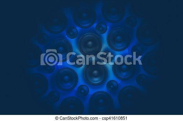 musique sonore, fond - csp41610851