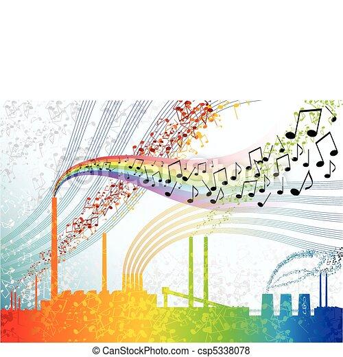 musique, usine - csp5338078