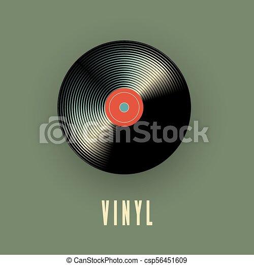 musique, vecteur, record., vinyle, illustration - csp56451609